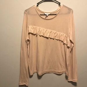 🌻Lucky Brand Blush Asymmetrical Ruffle